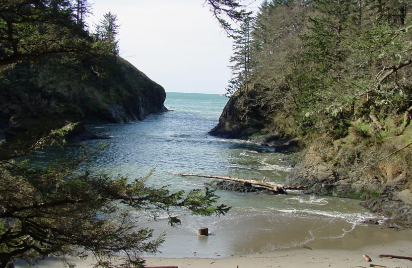Dead Man's Cove in Cape Disappointment State Park