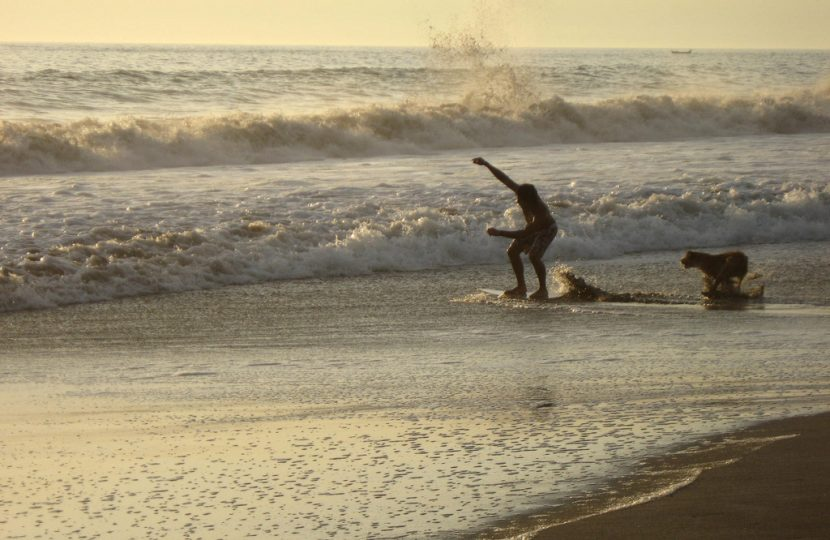 Skim Boarding on Long Beach