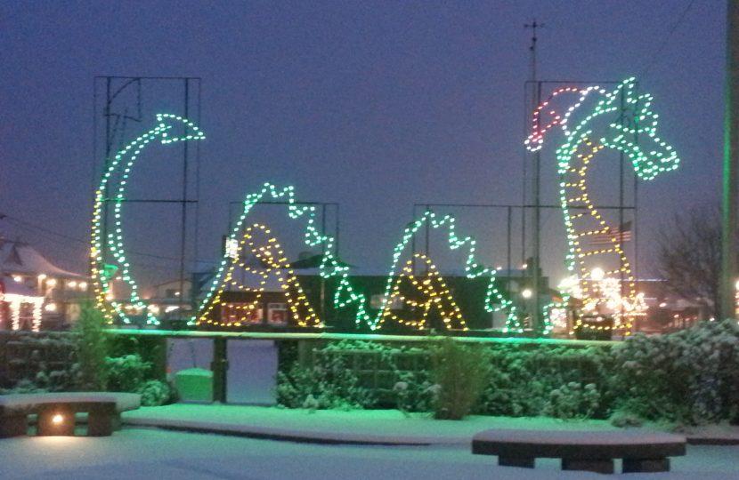 Cecil, the Long Beach Christmas Serpent